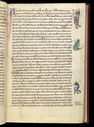Marginal Drolleries, In Martin Of Troppau's 'Chronicle Of Roman Emperors And Popes' f.29r